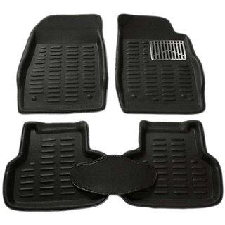 Bluetuff Premium quality Beige 3D Car Foot Mat set for Skoda Laura