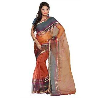 Florence Orange Tissue Printed Daily Wear Saree (Design 12)