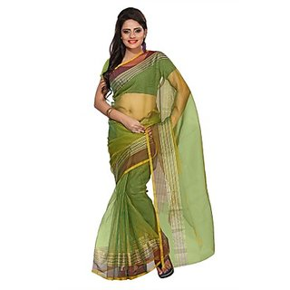Florence Green Tissue Printed Daily Wear Saree (Design 13)