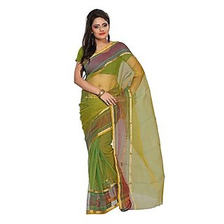 Florence Green Tissue Printed Daily Wear Saree (Design 14)