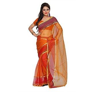 Florence Orange Tissue Printed Daily Wear Saree (Design 14)