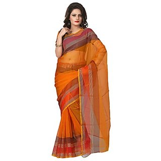Florence Orange Tissue Printed Daily Wear Saree (Design 2)