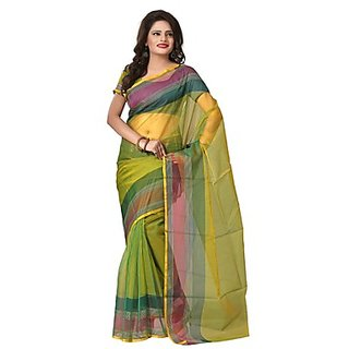Florence Green Tissue Printed Daily Wear Saree (Design 2)