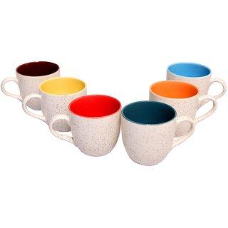 White Ceramic 150 ml Cups - Set of 6