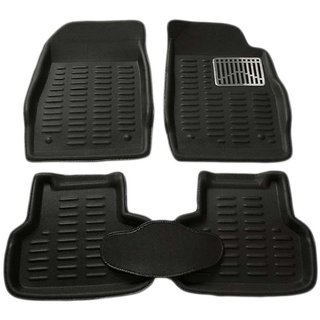 NS Beige Premium Quality 3D Car Mats Complete Set For Mahindra Quanto