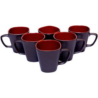 Brown Ceramic Tea Cup 6 Pcs