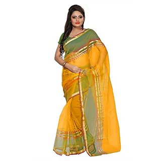 Florence Yellow Tissue Printed Daily Wear Saree (Design 12)