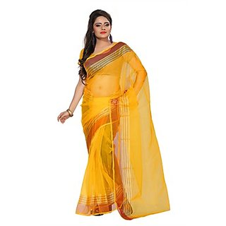 Florence Yellow Tissue Printed Daily Wear Saree (Design 13)