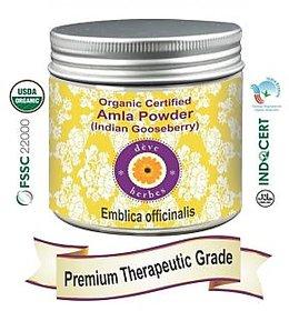 Deve Herbes Organic Certified Amla Powder (Indian Gooseberry) 200gm - Emblica Officinalis