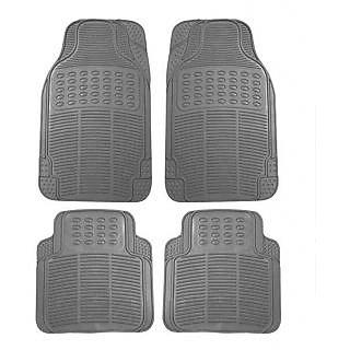Bluetuff Grey Premium Quality Rubber Car Foot Mat For Renault Logan