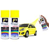 F1 Car Multi Purpose Lacquer Spray Paint Yellow Colour (Set Of 2)_H5SP04