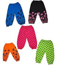 Pari & Prince Cotton Multicolour Girls Capri pack of 5 Pcs
