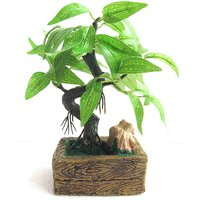 Artificial Bonsai Wild Plant With Marble Base