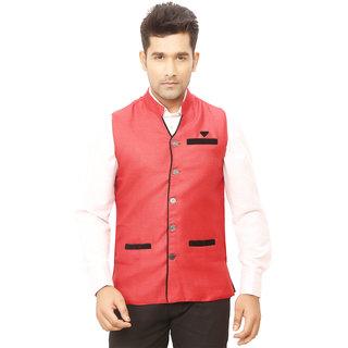 Kandy Red Nehru Jacket