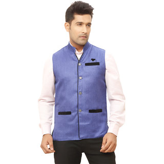 Kandy Blue Nehru Jacket