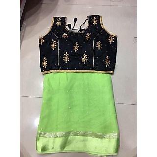 Multicoloured Tussar Silk Saree