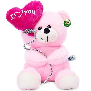 Amardeep and Co White Teddy with Roses 40cms - ad1129