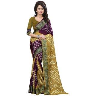 Bandhani cotton silk sarees