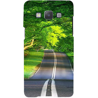 Ifasho Designer Back Case Cover For Samsung Galaxy A5 (2015) :: Samsung Galaxy A5 Duos (2015) :: Samsung Galaxy A5 A500F A500Fu A500M A500Y A500Yz A500F1/A500K/A500S A500Fq A500F/Ds A500G/Ds A500H/Ds A500M/Ds A5000 (Road Scenary Hongkong China Thane)