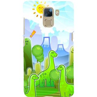 Ifasho Designer Back Case Cover For Huawei Honor 7 :: Huawei Honor 7 (Enhanced Edition) :: Huawei Honor 7 Dual SIM (Cartoon Dinosures Satirestar Cartoon Pastiche)