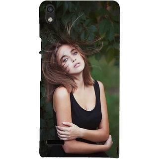 IFasho Designer Back Case Cover For Huawei Ascend P6 (Girl Ankara Turkey Girl Zipper)