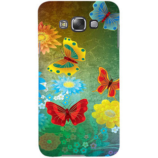 Ifasho Designer Back Case Cover For Samsung Galaxy E5 (2015)  :: Samsung Galaxy E5 Duos :: Samsung Galaxy E5 E500F E500H E500Hq E500M E500F/Ds E500H/Ds E500M/Ds  (Butterfly Diferent Colors Multi Colour)