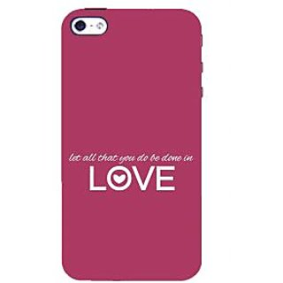 IFasho Designer Back Case Cover For Apple IPhone 5 (Most Romantic No Doubt)