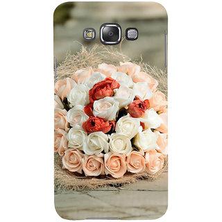 Ifasho Designer Back Case Cover For Samsung Galaxy E7 (2015) :: Samsung Galaxy E7 Duos :: Samsung Galaxy E7 E7000 E7009 E700F E700F/Ds E700H E700H/Dd E700H/Ds E700M E700M/Ds  (Nag Kesar Inhibit  Rose Necklace Increase Bloom Flourish Multiply)