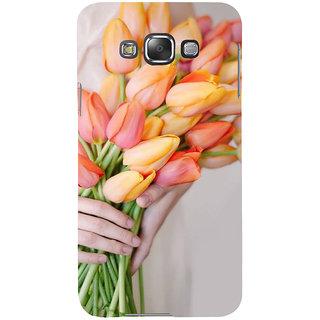 Ifasho Designer Back Case Cover For Samsung Galaxy E7 (2015) :: Samsung Galaxy E7 Duos :: Samsung Galaxy E7 E7000 E7009 E700F E700F/Ds E700H E700H/Dd E700H/Ds E700M E700M/Ds  (Tagetes Erecta[2] Rose Aroma Oil Rose Quartz Pendant Aster )