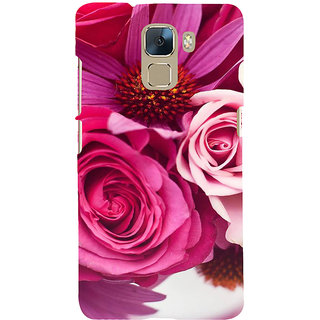 Ifasho Designer Back Case Cover For Huawei Honor 7 :: Huawei Honor 7 (Enhanced Edition) :: Huawei Honor 7 Dual SIM (Concert Rose Face Wash Rose 31 Blossoming)