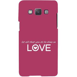 Ifasho Designer Back Case Cover For Samsung Galaxy A7 (2015) :: Samsung Galaxy A7 Duos (2015) :: Samsung Galaxy A7 A700F A700Fd A700K/A700S/A700L A7000 A7009 A700H A700Yd (Most Romantic No Doubt)