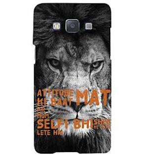 Ifasho Designer Back Case Cover For Samsung Galaxy A7 (2015) :: Samsung Galaxy A7 Duos (2015) :: Samsung Galaxy A7 A700F A700Fd A700K/A700S/A700L A7000 A7009 A700H A700Yd (Style Cool Fearness Attitude )