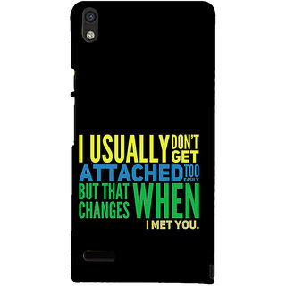 IFasho Designer Back Case Cover For Huawei Ascend P6 (Resemblance  Dating Black)