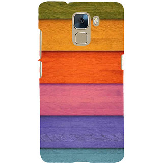 Ifasho Designer Back Case Cover For Huawei Honor 7 :: Huawei Honor 7 (Enhanced Edition) :: Huawei Honor 7 Dual SIM (Colourful Woods Bastract Background)