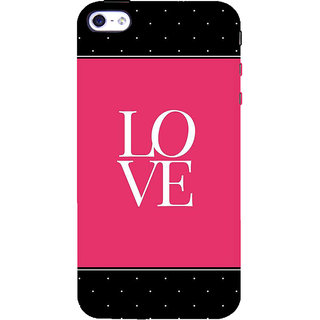 IFasho Designer Back Case Cover For   4S (Sentiment Love Aaj Kal Deewana)
