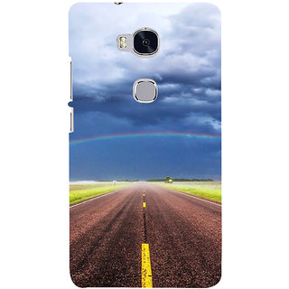 Ifasho Designer Back Case Cover For Huawei Honor 5X :: Huawei Honor X5 :: Huawei Honor GR5 (Road Scenary Lahore Pakistan Siliguri)