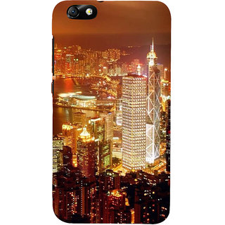 IFasho Designer Back Case Cover For Huawei Honor 4X :: Huawei Glory Play 4X (Cities Santiago Chile Brahmapur)