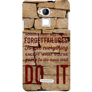 IFasho Designer Back Case Cover For Coolpad Note 3 (Forget Past Mistakes Let Slip )