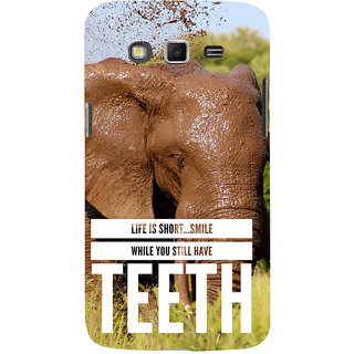 Ifasho Designer Back Case Cover For Samsung Galaxy Grand 2 :: Samsung Galaxy Grand 2 G7105 :: Samsung Galaxy Grand 2 G7102 :: Samsung  Galaxy Grand Ii (Elephant Life Is Too Small )