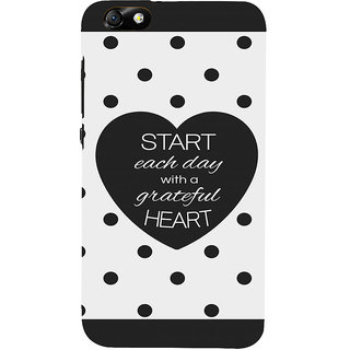 IFasho Designer Back Case Cover For Huawei Honor 4X :: Huawei Glory Play 4X (Each Day Starting With Grateful Heart)