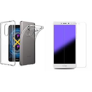 sports shoes 1e083 50593 Buy Huawei Honor 6x transparent back cover with tempered glass 0.33 ...