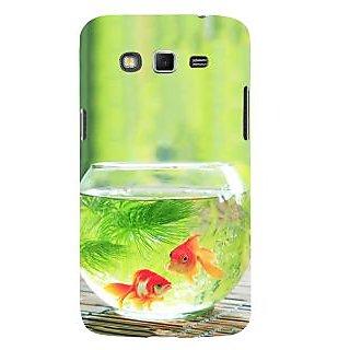 Ifasho Designer Back Case Cover For Samsung Galaxy Grand Neo I9060 :: Samsung Galaxy Grand Lite (Gold Fish Transparent Aquatic Plants )