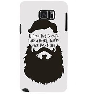 Ifasho Designer Back Case Cover For Samsung Galaxy Note 5 :: Samsung Galaxy Note 5 N920G :: Samsung Galaxy Note5 N920T N920A N920I  (Parents Paa Beared Bear Moustach)