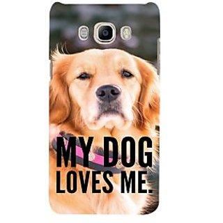 Ifasho Designer Back Case Cover For Samsung Galaxy J5 (6) 2016 :: Samsung Galaxy J5 2016 J510F :: Samsung Galaxy J5 2016 J510Fn J510G J510Y J510M :: Samsung Galaxy J5 Duos 2016 (Kutta Puppy Pooch Bitch)