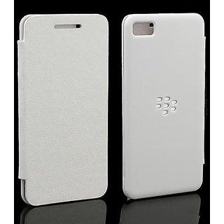 Blackberry Z10 Flip Cover Case (white)