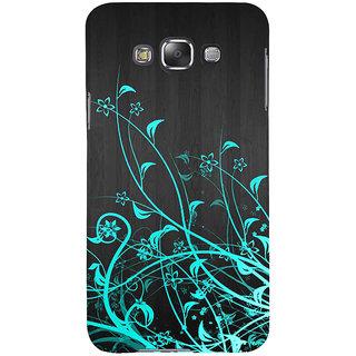 Ifasho Designer Back Case Cover For Samsung Galaxy E5 (2015)  :: Samsung Galaxy E5 Duos :: Samsung Galaxy E5 E500F E500H E500Hq E500M E500F/Ds E500H/Ds E500M/Ds  (Orchid Bling Drawings Flowers Leaves)