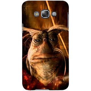 Ifasho Designer Back Case Cover For Samsung Galaxy E7 (2015) :: Samsung Galaxy E7 Duos :: Samsung Galaxy E7 E7000 E7009 E700F E700F/Ds E700H E700H/Dd E700H/Ds E700M E700M/Ds  (Scary Danger Animation Moustache Fire Volcano)