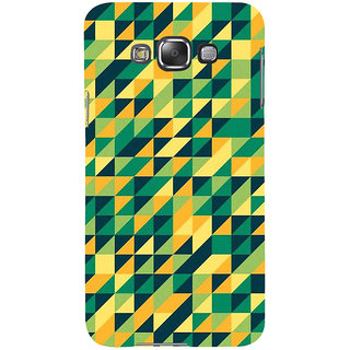 Ifasho Designer Back Case Cover For Samsung Galaxy E5 (2015)  :: Samsung Galaxy E5 Duos :: Samsung Galaxy E5 E500F E500H E500Hq E500M E500F/Ds E500H/Ds E500M/Ds  (Multicolor Triangle Many Color Square Colourful Square )