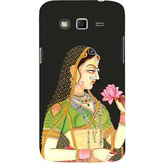 Ifasho Designer Back Case Cover For Samsung Galaxy Grand I9082 :: Samsung Galaxy Grand Z I9082Z :: Samsung Galaxy Grand Duos I9080 I9082 (Girl With Lotus Girl With Flower Miniature Art Work)
