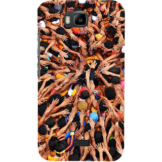 Ifasho Designer Back Case Cover For Huawei Honor Bee :: Huawei Honor Bee Y5c (Culture Photography Hands Unite Unity )